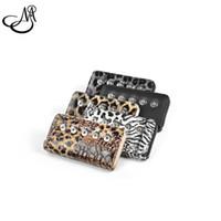 achat en gros de boutons pression thanksgiving mixte-Le plus récent portefeuille de bijoux en forme de boutons en cuir PU s'adapte à 18mm Snap Button Mix Leopard Print Snap bijoux Portefeuille MIJ037