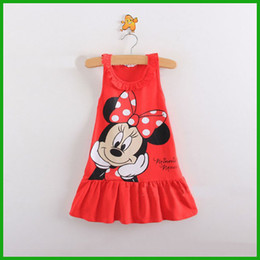 Loverly Baby Girls Minnie Mouse Dress Kids Cartoon Tops Clothes Party Dress kids vestidos cute cartoon print fast free shipping