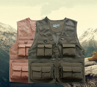 Wholesale Summer New Arrive Good saling multi function pocket Fishing Anti_FoulFishing Removable Liner Backpack Outdoor Arm green Khaki Vest