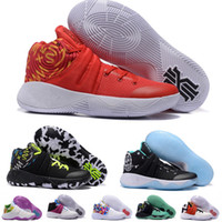 Wholesale 2016 Kyrie Irving Men Basketball Shoes Kyrie Basketball Shoes original Quality Kyrie irving Tie Dye All Star Sports Sneakers Size