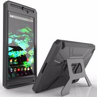 achat en gros de armure bouclier-Housse complète antidérapante en caoutchouc hybride pour NVIDIA SHIELD Tablet K1 Étui 8 pouces REVOLUTION Series, support pour tablette