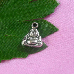 Wholesale Hot and retail tibetan antique silver Buddha x9mm