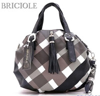 Wholesale 2011 new classic grid tassel female bag handbag