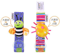 Cloth bee puppets - infant toys lamaze bee ladybug Puppets amp Felt Boards Baby Rattles cartoon Wrist bell watch band New