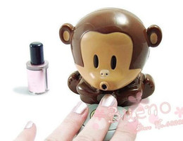 Wholesale Novelty Item Portable Finger Toe Nail Art Polish Dryer Blower Monkey