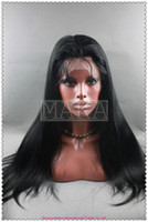 French Lace american jets - full lace wig100 indain human hair jet black inch silk straight
