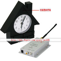 Wholesale 1 Ghz Clock Model Hidden Wireless Video and Audio Color COMS Spy Camera
