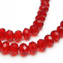 60pcs charm red 10mm Swarovski crystal Loose Rondelle glass Beads,making all sorts of jewelry