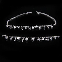 Wholesale Charm Jewelry set necklace bracelet fashion silver for Saint Valentine s Day gift set