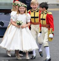 A-line wedding dresses 2011 - 2011 Royal Wedding A Line Jewel Neckline Short Sleeve Flower Girl Dresses