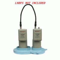 Wholesale 10 Degree C Band Dual LNB Bracket Dual Satellite LNB Bracket LNBF Holder for prime focus antenna