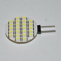Hot G4 24 LED SMD blanc pur lumière ampoule lampe lumineuse 12 volts 3528 bon prix 10pcs / lot Livraison gratuite