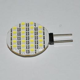 Hot G4 24 LED SMD blanc pur lumière ampoule lampe lumineuse 12 volts 3528 bon prix 10pcs / lot Livraison gratuite à partir de g4 blanc bulbe fournisseurs