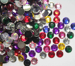 Wholesale 2000 MIXED COLORS FLATBACK RHINESTONES MM ROUND GEMS