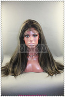silk straight african american highlights - full lace wig100 indian human hair b highlight quot quot silk straight