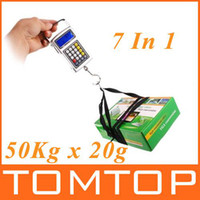 Digital scale 10kg-100kg H319 7 in 1 50Kg x 20g Fish hook hanging digital Scale weighing Scales Waterproof keyboard 10pcs lot H319
