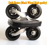 Wholesale pair Drift Skates Drift freeline Skate Super PU wheel Black white
