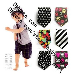 Wholesale Hot Silk like Children ties tie Fashion children silk necktie satiny Boy tie Boys necktie