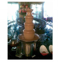 Wholesale Newest Commercial Tiers Chocolate Fondue Fountain Maker Stainless Steel