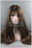 silk straight african lace wigs - full lace wig indian human hair dark brown quot quot silk straight