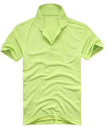 Wholesale Mixed Order Green Colors Men s Short Sleeve Shirts embroidery T Shirt Size S M L XL XXL H04