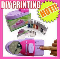 Well Packed   Free Ship 1 Set DIY NAIL ART COLORS DESIGN DIY PRINTING MACHINE KIT POLISH