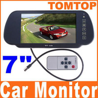 Wholesale Car Rearview Rear Monitor Color TFT LCD Work With DVD serveillance camera STB Satellite Receivr K379