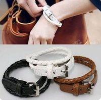 Bangle belt buckles pieces - 20 Pieces Mixed Charming Wristband Belt Bangle Buckle Leather Bracelet Wristbands