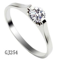 Band Rings Celtic Women's Stainless Steel ring Crystal with an imitation diamond CZ finger ring Free shipping 254