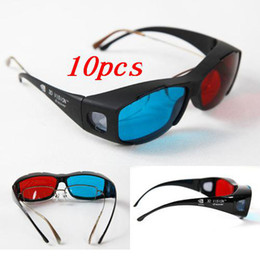 Wholesale Red Blue D Dimensional Glasses for D DVD Movie Game
