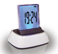 Wholesale Charming LCD Digital Alarm Clock Desk Table Clock Mood Light