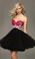 Wholesale 2011 Sexy Taffeta Mini Sweetheart Beaded Ball Gown Cocktail Homecoming Prom Party Dress Dresses C033