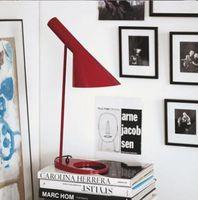 Red arne jacobsen design - Louis Poulsen AJ table Lamp multicolor for choice design by Arne Jacobsen Red Blue White Yellow