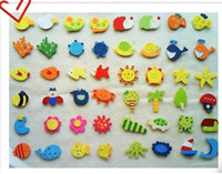 Wholesale 60pcs Children s wooden toys educational toys early childhood mental cartoon cute fridge magnet