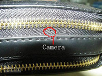 Wholesale Leather Purse Spy Camera Resolution with GB Memory in Black UE9SD