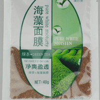 Wholesale Seaweed Mask Natural Plants Containing green tea extract Repair g bag bags pack
