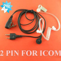 2 PIN radio earpiece - PIN Walkie Talkie Earphones Earpieces Acoustic Tube For ICOM Radio C035