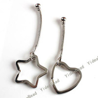 Wholesale Mixed Alloy Key Chains metal Key Rings accessories Fit Charms Beads