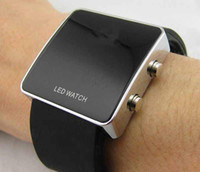 Wholesale Luxury LED Watch Digital Display Mirror Mens Touch Screen Silicone Sport Unisex Women s Watches