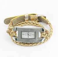 Wholesale Fashion rope watch hand knitted leather watch wrist watch women watch