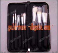 Goat Hair leather pieces - HOT Makeup Pieces Brush sets leather Pouch set gift