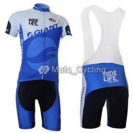 2011 GIANT WhiteBlue Short Sleeve White Cycling Jersey + Bib Short G023