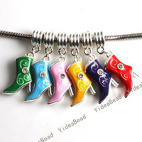 Wholesale 12 MIXED Pendants Assorted color Enamel Boots Rhinestone Pandent Fit Chains Necklaces