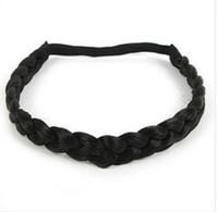 Wholesale 50pcs fashion CM Width braided plaited hairband hair band headband braid plait hair accessory