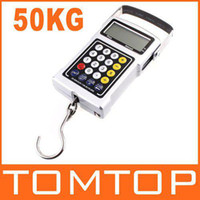 Digital scale 10kg-100kg 7 in 1 7 in 1 50Kg x 20g digital Scale Fish Hook Hanging Weighing Scales Waterproof keyboard H319 10pcs