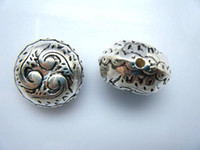 Wholesale Acrylic Beads Plated with CCB Material Lentil Antique Silver MM In Diameter Thick