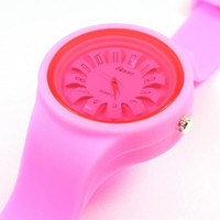 Wholesale New multicolors Unisex Quartz Wrist Watch with Silicone watch Band