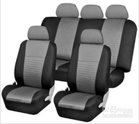 Wholesale Car Seat Cover Full Set Front Airbags Ready amp Rear Split Gray black Fb060