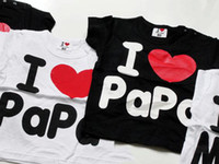 clothing store - Baby short sleeve shirt top clothes i love mama papa shirts tops children clothing in my store