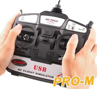 Wholesale 6CH USB D RC Helicopter Airplane Flight Simulator Retail and